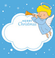 angel with frame for text or photo vector image vector image