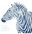 Animal of jeans zebra vector image vector image