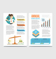 annual report template set with diagram vector image vector image