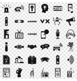 audio equipment icons set simple style vector image vector image