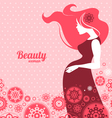 Background with silhouette of pregnant woman vector image