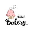 bakery dessert shop or bakehouse logo tag vector image