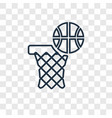 basketball concept linear icon isolated on vector image vector image