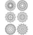 Beautiful ornaments in circle vector image vector image