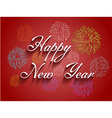 Beautiful text Happy New Year with fireworks vector image vector image