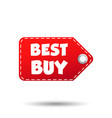 best buy hang tag label on white background vector image vector image
