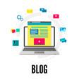 blogging concept social media and vector image vector image