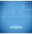 Blueprint building background vector image vector image