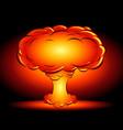 bomb blast in style comics cartoons vector image vector image