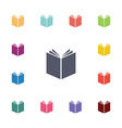 book flat icons set vector image vector image