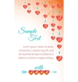Bright love background vector image vector image