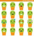 Cactus emoticons vector image vector image