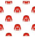 canadian hockey jersey pattern seamless vector image