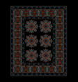 carpet in dark shades with gray ethnic ornament vector image vector image