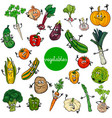 cartoon vegetables characters collection vector image