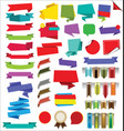 collection of labels stickers banners and tags vector image