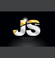 combination letter js j s alphabet with gold vector image vector image