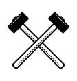 crossed hammers design element for poster emblem vector image