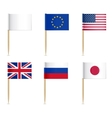 Flags toothpick vector image vector image