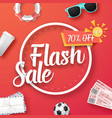 flash sale poster vector image vector image