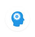 gear in head icon pictogram vector image