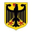 german coat arms eagle vector image vector image