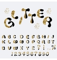 Glitter Alphabet Custom Characters vector image