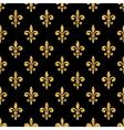 Golden fleur-de-lis seamless pattern black 2 vector image