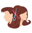 hairdressing salon - icon vector image vector image