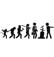 halloween background of people evolution to zombie vector image