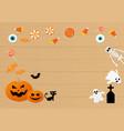 happy halloween set of characters in cartoon vector image