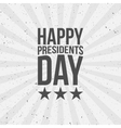 Happy Presidents Day Text vector image