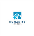 humanity logo design inspiration and idea vector image vector image