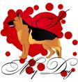 i love my german shepherd dog vector image