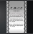 invitation card design with typography and vector image