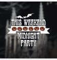 invitation design for halloween party vector image vector image