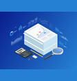 isometric stack documents with an official vector image
