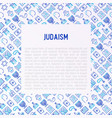 judaism concept with thin line icons vector image