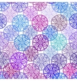 Lace seamless pattern with lilac pink purple blue vector image vector image