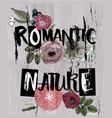 letters - romantic nature with floral elements vector image vector image