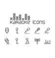 line karaoke icons set on white background vector image vector image