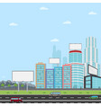 many blank urban billboards with for your vector image vector image