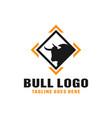 modern bull animal logo vector image vector image