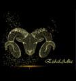 muslim holiday eid al-adha polygonal ram vector image vector image