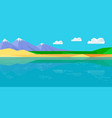natural landscape in flat vector image vector image