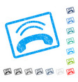 phone ring icon rubber watermark vector image vector image
