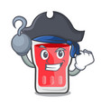 pirate strawberry mojito character cartoon vector image vector image