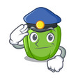 police green pepper in the plate character vector image vector image