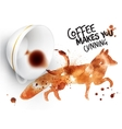 Poster wild coffee fox vector image