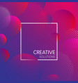 purple creative solutions background with bubbles vector image vector image